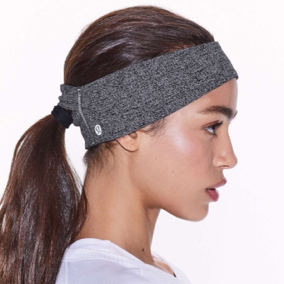 lululemon heathered grey ear warmer